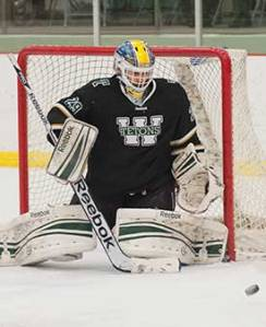 WSC goaltender Tyler Ampe helped the Tetons to the 2013-14 national title.